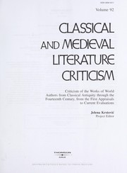 Cover of: Classical and Medieval Literature Criticism |