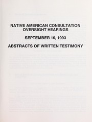 Cover of: Federal oversight hearing on Native American legislation | United States. Bureau of Land Management
