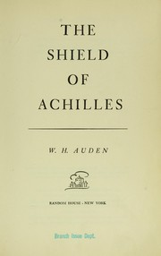 Cover of: The shield of Achilles