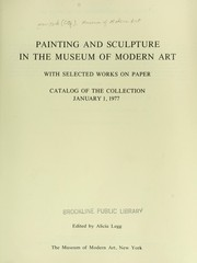 Cover of: Painting and sculpture in the Museum of Modern Art, with selected works on paper
