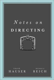 Cover of: Notes on directing | Frank Hauser