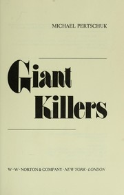 Cover of: Giant killers by Michael Pertschuk