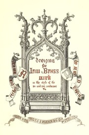 Cover of: Designs for iron and brass work in the style of the XV and XVI centuries