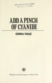 Cover of: Add a pinch of cyanide | Emma Page