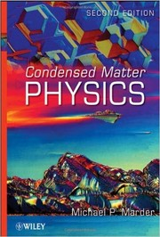 Cover of: Condensed matter physics | Michael P. Marder