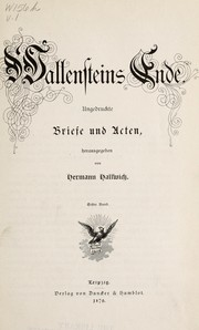 Cover of: Wallenstein's Ende