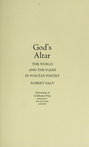 God's altar by Daly, Robert
