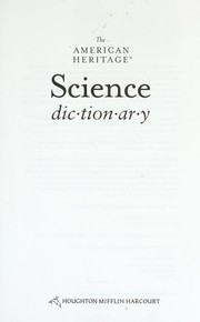 The American heritage science dictionary.