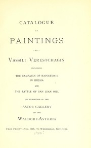 Cover of: Catalogue of paintings by Vassili Verestchagin