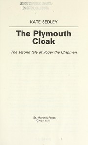 Cover of: The Plymouth cloak | Kate Sedley
