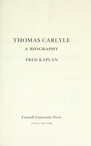 Cover of: Thomas Carlyle | Kaplan, Fred
