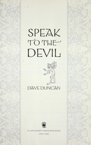 Cover of: Speak to the devil