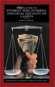Cover of: FIRE's Guide to Student Fees, Funding, and Legal Equality on Campus