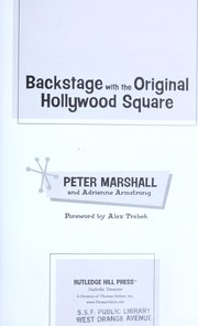 Cover of: Backstage with the original Hollywood square
