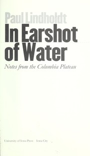 Cover of: In earshot of water