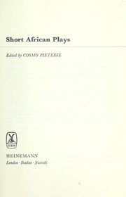 Cover of: Short African plays. | Cosmo Pieterse