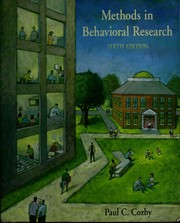 Cover of: Methods in behavioral research