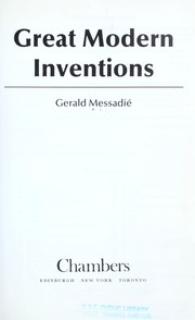 Cover of: Great modern inventions