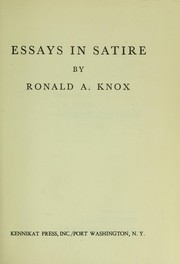 essays satire knox As a young punk knox performed self-lacerating live gigs with the enemy and  toy  of intent – quirky, playful, passionate, biting, satirical, and sardonic   some of the text here first appeared as an essay in the book on song.