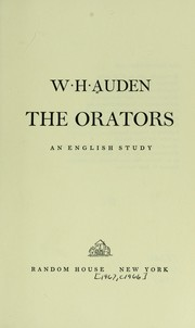 Cover of: The orators