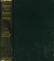 Cover of: Christ in the Bible Vol. II - Lev. - Deut. |