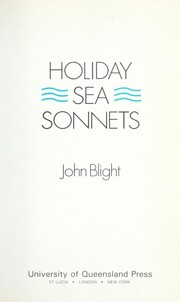 Cover of: Holiday sea sonnets