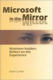 Cover of: Microsoft in the Mirror | Karin Carter