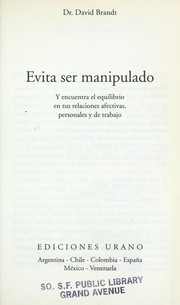 Cover of: Evita ser manipulado
