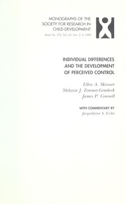 Cover of: Individual differences and the development of perceived control