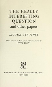 Cover of: The really interesting question, and other papers