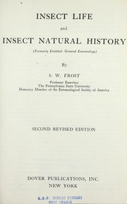 Cover of: Insect life and insect natural history | S. W. Frost