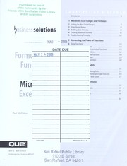 Cover of: Formulas and functions with Microsoft Excel 2003 | Paul McFedries