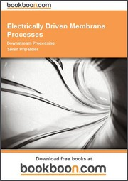 Cover of: Electrically Driven Membrane Processes Downstream Processing | Søren Prip Beier