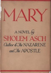 Cover of: Mary | Asch, Sholem