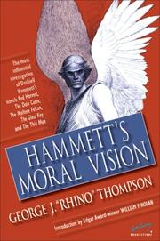Cover of: Hammett's Moral Vision