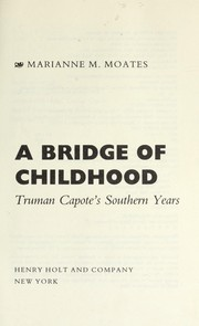 Cover of: A bridge of childhood