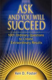 Cover of: Ask and You Will Succeed