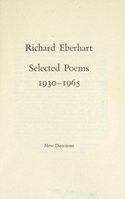 Cover of: Selected poems, 1930-1965