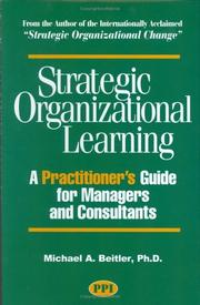 Cover of: Strategic Organizational Learning