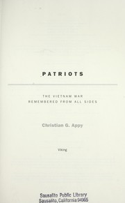 Cover of: Patriots | Christian G. Appy