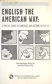 Cover of: English the American way