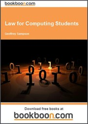 Cover of: Law for Computing Students | Geoffrey Sampson