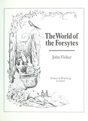 Cover of: The world of the Forsytes | Fisher, John