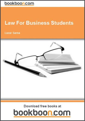 Law For Business Students by Lazar Sarna