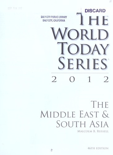 The Middle East & South Asia 2012 by Malcolm B. Russell