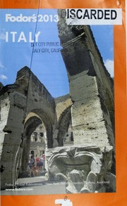 Cover of: Fodor's 2013 Italy