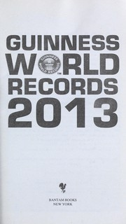 Cover of: Guinness World Records 2013