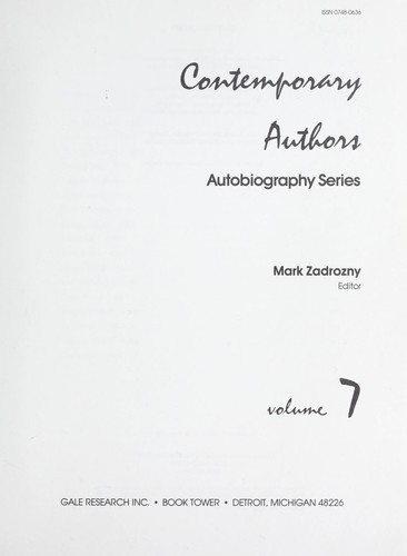 Something About the Author (Something About the Author Autobiography Series) by Mark Zadrozny