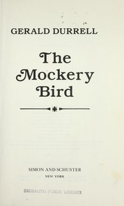 Cover of: The mockery bird