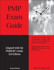 Cover of: PMP Exam Guide - Aligned with PMBOK Guide